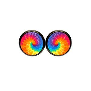 Rainbow Tie Dye Earrings